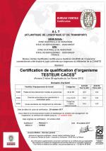 Cliquez pour télécharger la certification au format pdf
