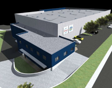 Nouveau batiment Atlantique Logistique de Transport-MAINCO Saint Paul lez Durance