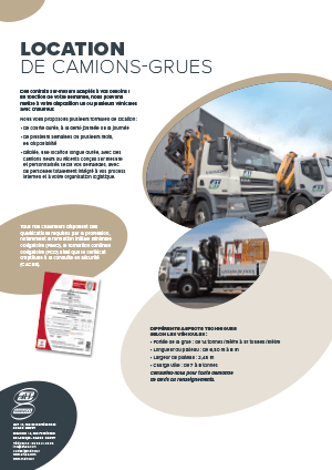 Fiche Location de camions-grues ALT-MAINCO