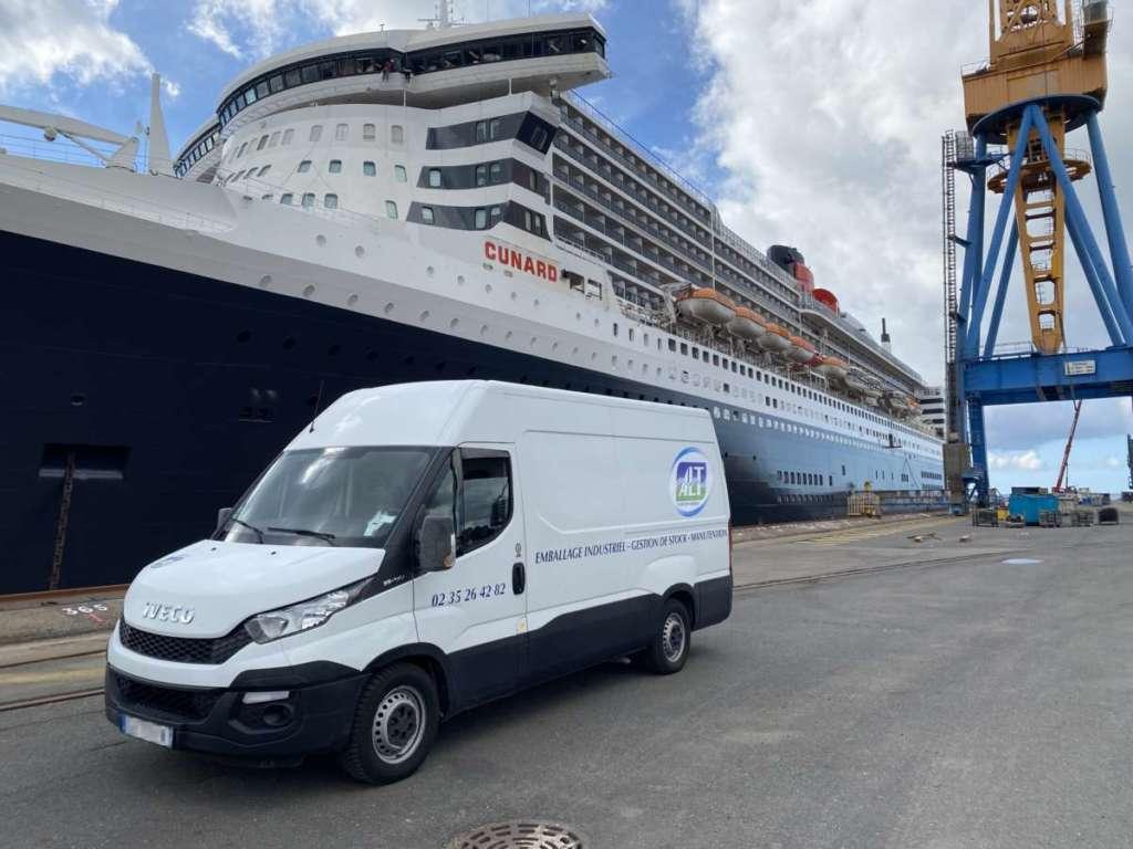 ALT Brest sur le chantier du Queen Mary 2